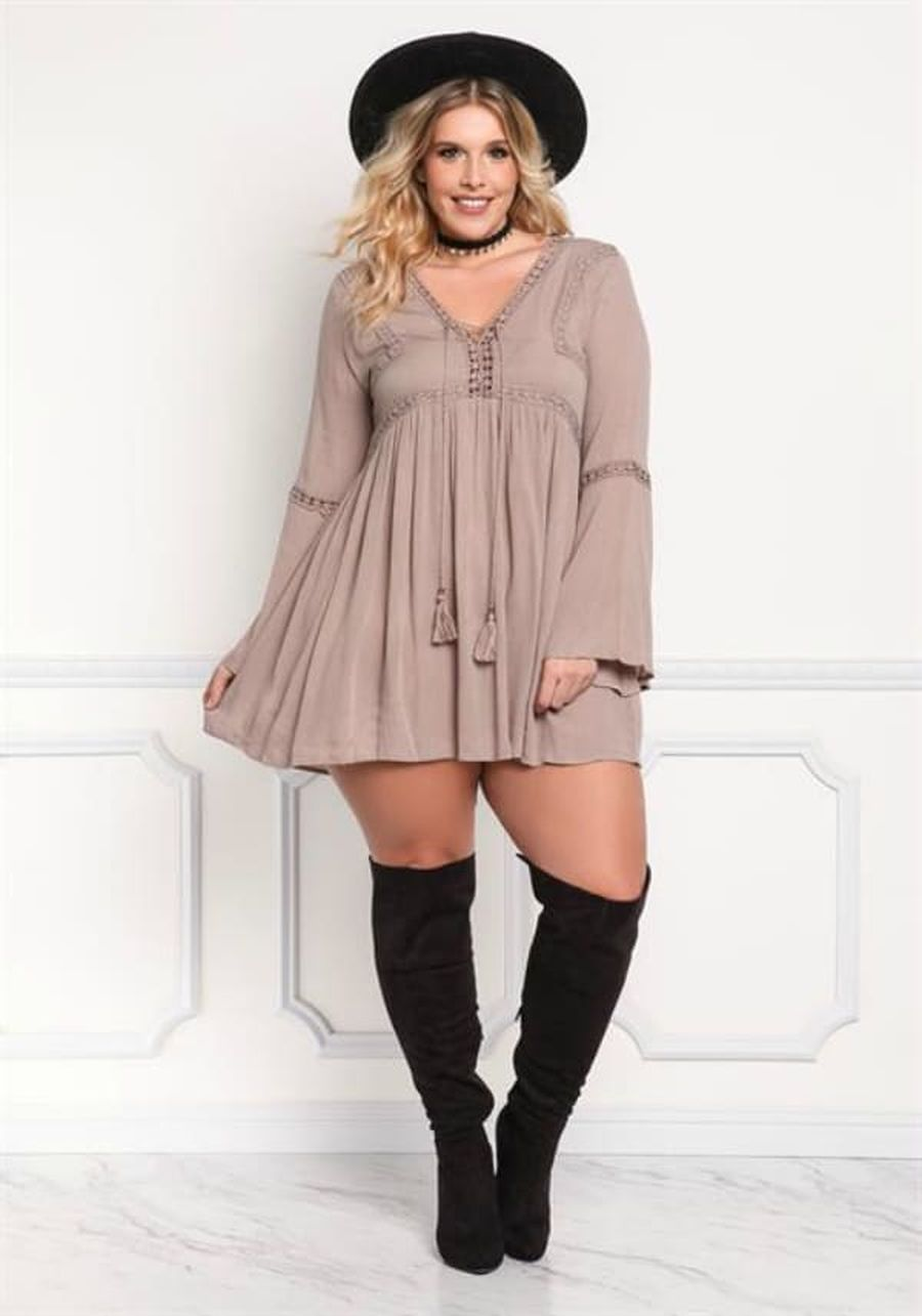 Inspiring winter outfits for plus size 79