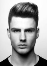 Men classy modern pompadour hairstyle 16