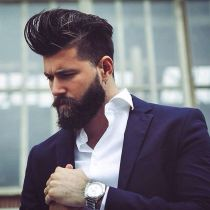 Men classy modern pompadour hairstyle 20
