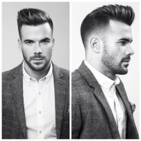 Men classy modern pompadour hairstyle 22