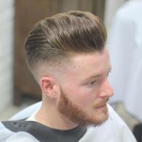 Men classy modern pompadour hairstyle 38