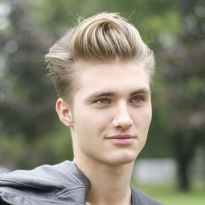 Men classy modern pompadour hairstyle 45