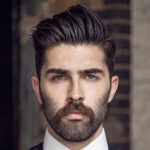 Men classy modern pompadour hairstyle 59