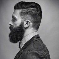 Men classy modern pompadour hairstyle 62