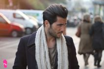 Men classy modern pompadour hairstyle 8
