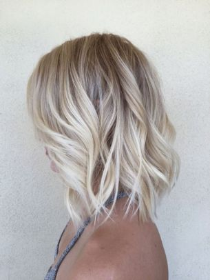 Stylish blonde lobs haircut ideas 20