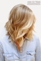 Stylish blonde lobs haircut ideas 34
