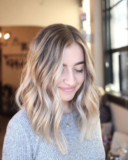 Stylish blonde lobs haircut ideas 43