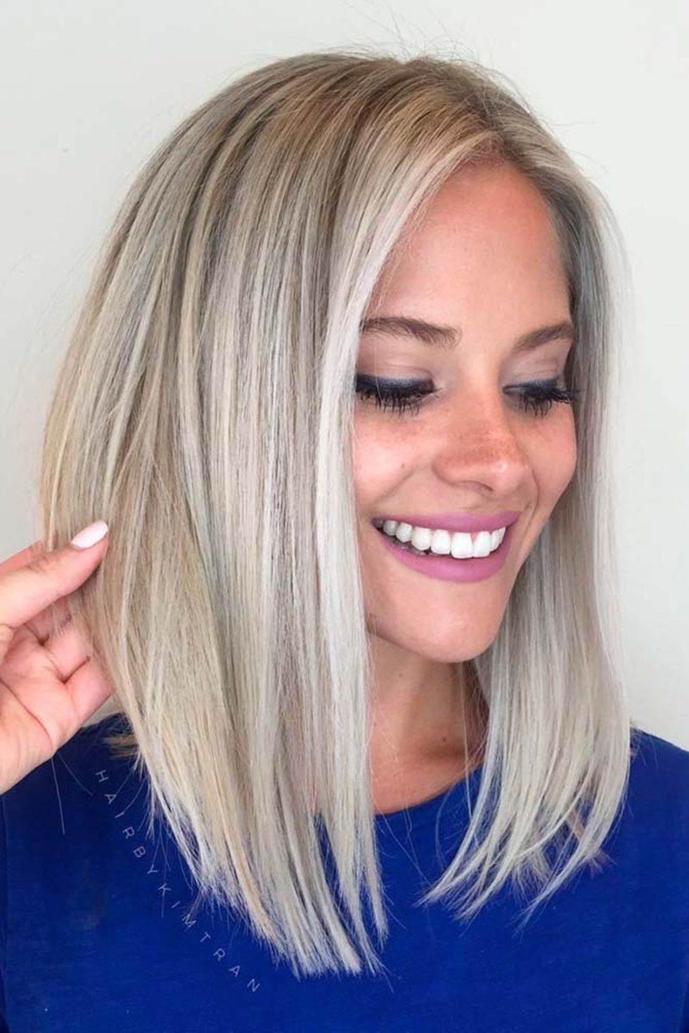 Stylish blonde lobs haircut ideas 48