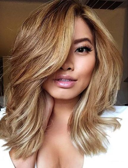 Stylish blonde lobs haircut ideas 60