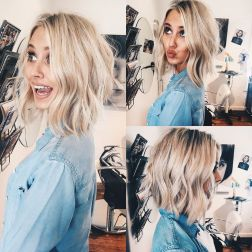 Stylish blonde lobs haircut ideas 63