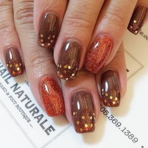 Swag thanksgiving nails art 33