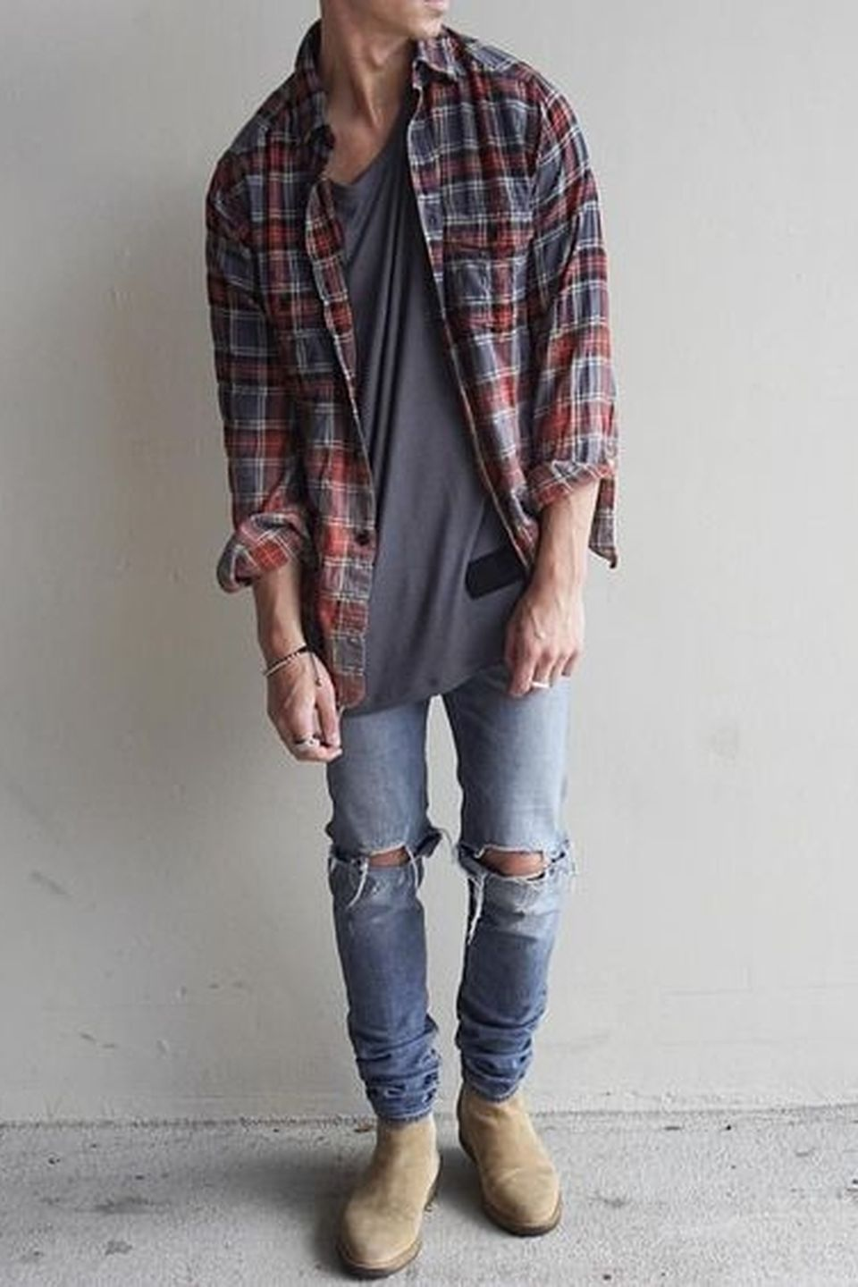 Casual indie mens fashion outfits style 22