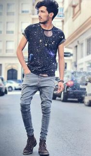 Casual indie mens fashion outfits style 8