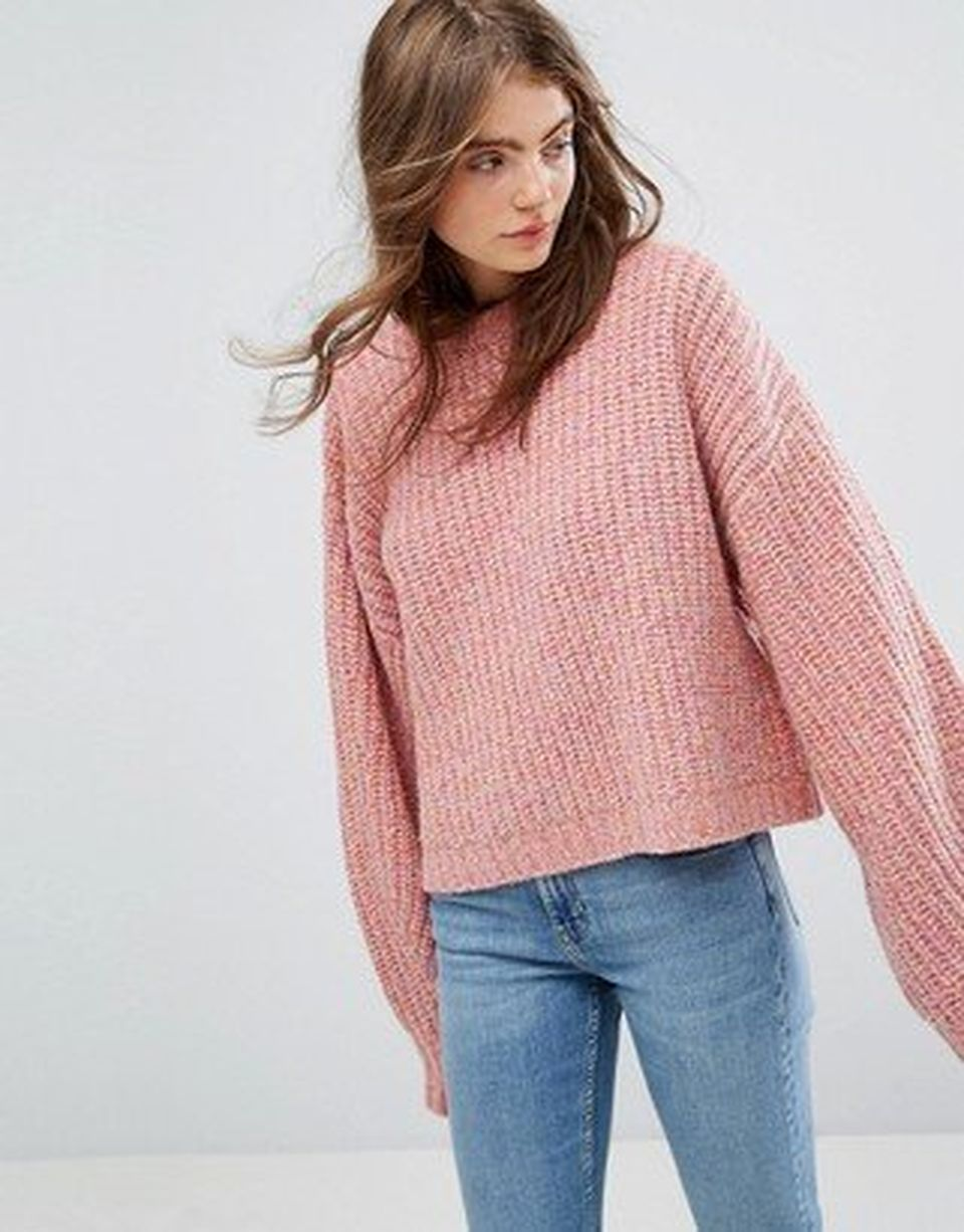 Fashionable oversized sweater for winter outfit 32