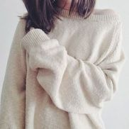 Fashionable oversized sweater for winter outfit 50