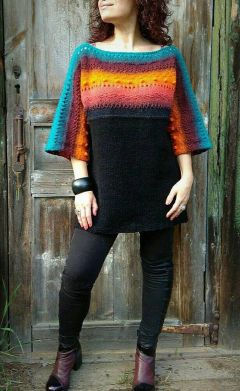 Fashionable oversized sweater for winter outfit 58