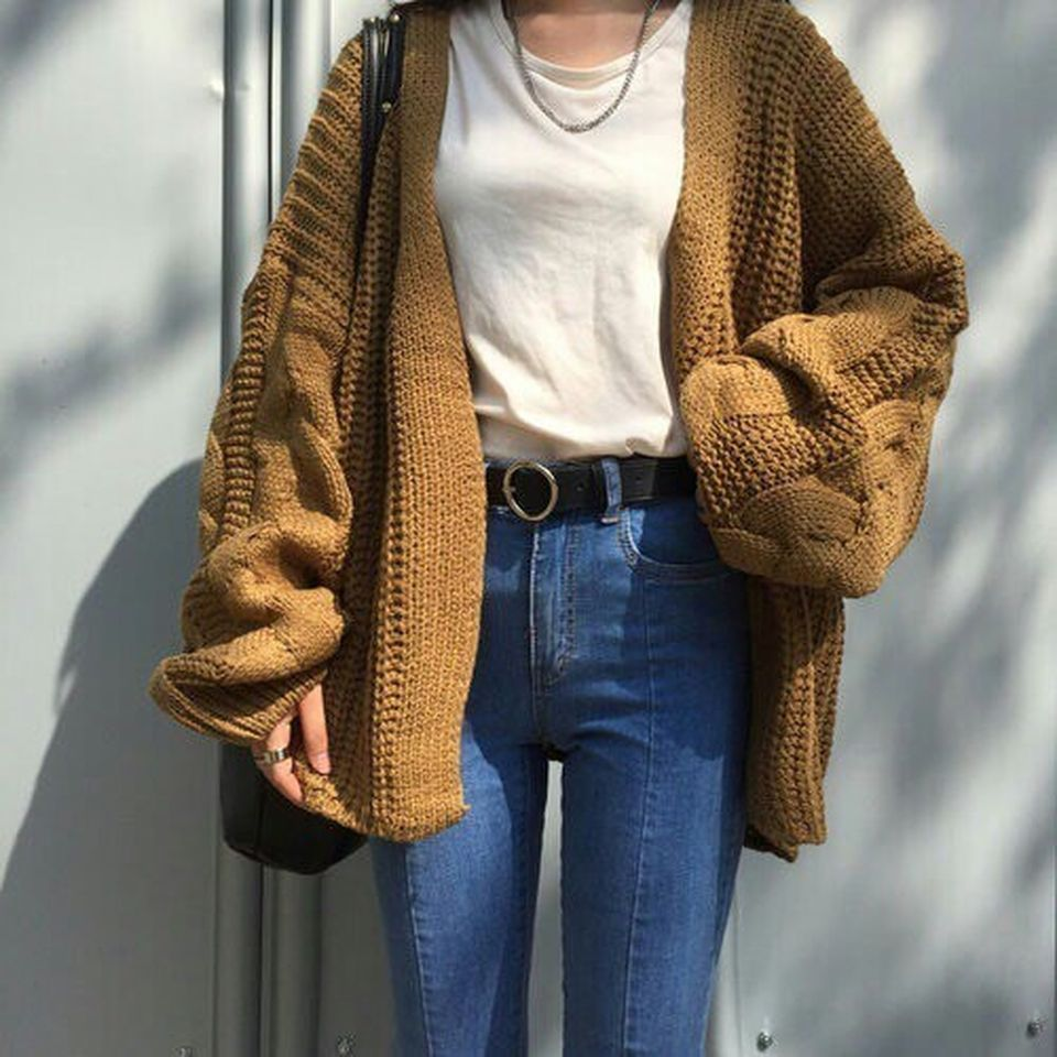 Fashionable oversized sweater for winter outfit 62