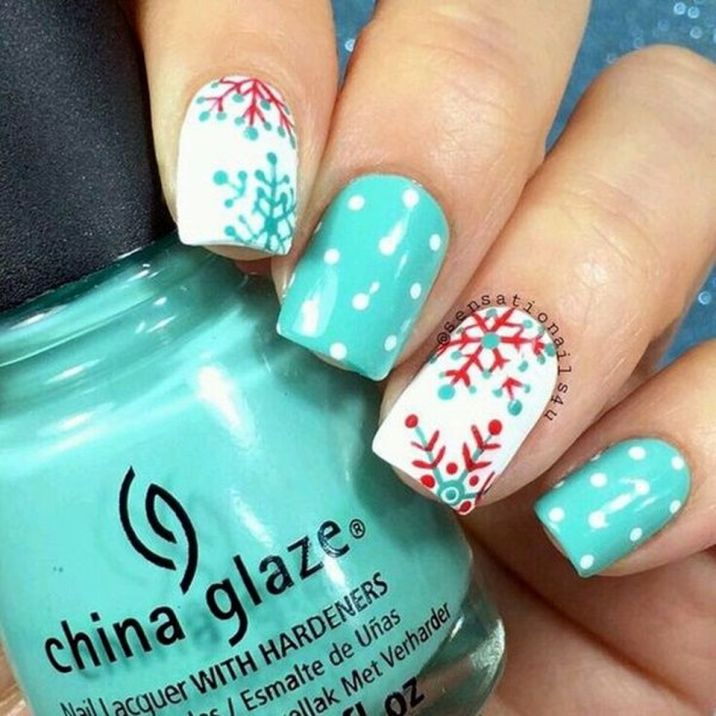 Pretty winter nails art design inspirations 1