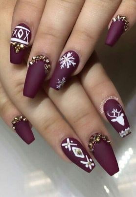 Pretty winter nails art design inspirations 5