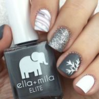 Pretty winter nails art design inspirations 53