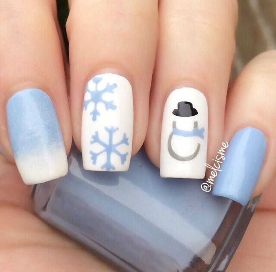 Pretty winter nails art design inspirations 61