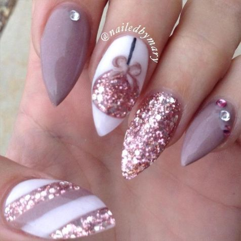 Pretty winter nails art design inspirations 78