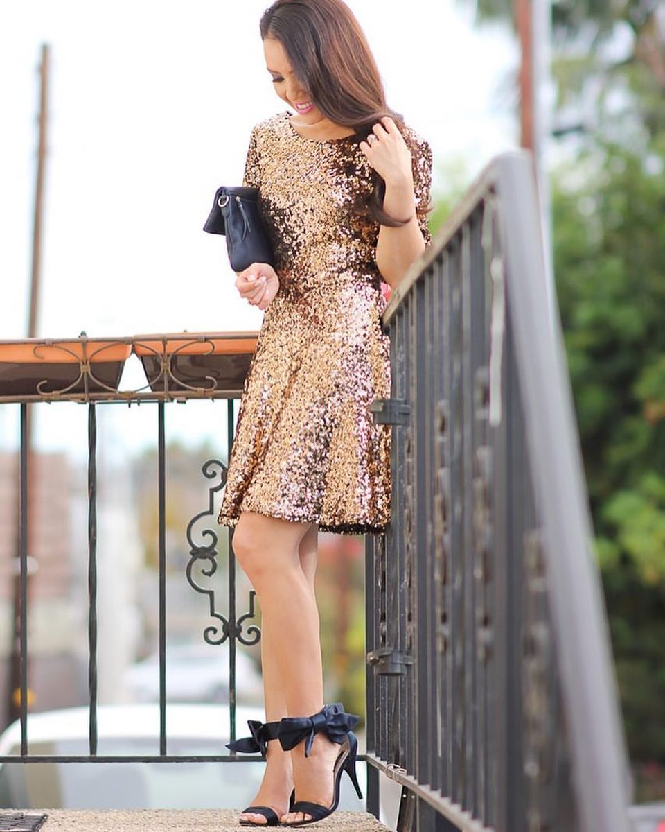 Sequin dress for new year eve party and night out 48