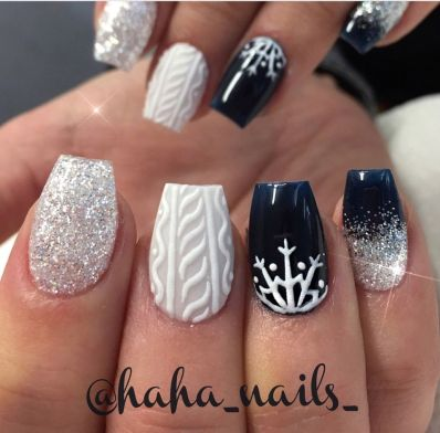 Sweet acrylic nails ideas for winter 119