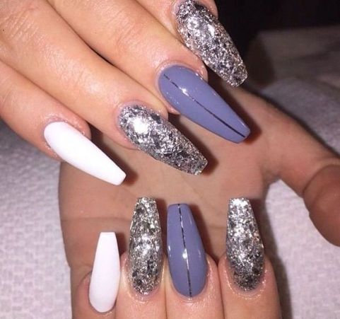 130 fresh ideas to make glitter acrylic nails for this winter sweet acrylic nails ideas for winter 32 prinsesfo Choice Image