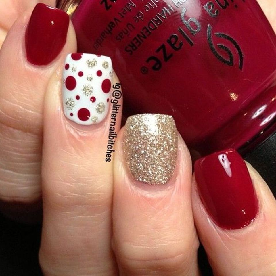 Sweet acrylic nails ideas for winter 42