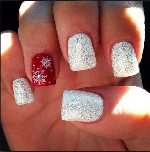 Sweet acrylic nails ideas for winter 7