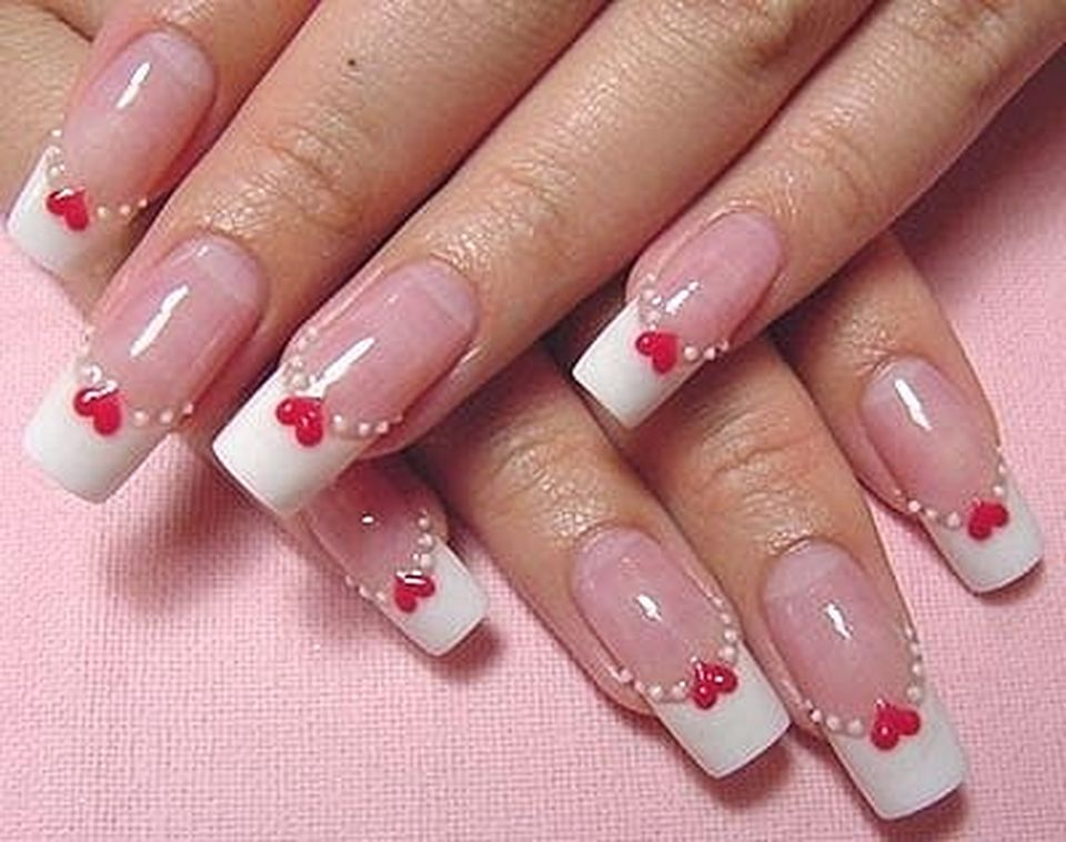 Lovely valentine nails design ideas 13
