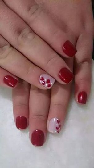 Lovely valentine nails design ideas 15