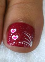Lovely valentine nails design ideas 29