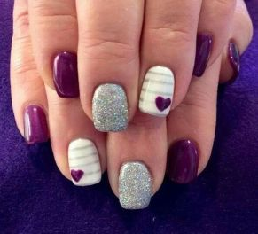 Lovely valentine nails design ideas 44