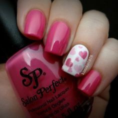 Lovely valentine nails design ideas 55
