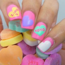 Lovely valentine nails design ideas 6