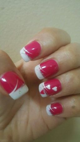 Lovely valentine nails design ideas 7