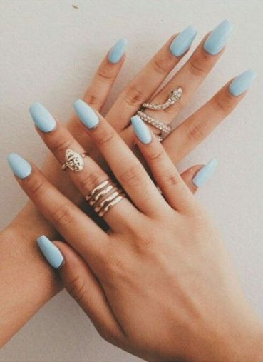 Sweet Blue Nails Ideas that Make Cool and Calm Appearance 2