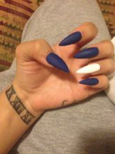 Sweet Blue Nails Ideas that Make Cool and Calm Appearance 23