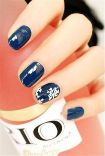 Sweet Blue Nails Ideas that Make Cool and Calm Appearance 3
