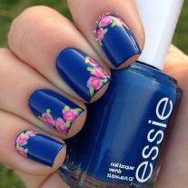 Sweet Blue Nails Ideas that Make Cool and Calm Appearance 44