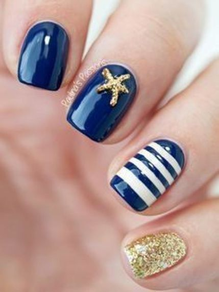 Sweet Blue Nails Ideas that Make Cool and Calm Appearance 47