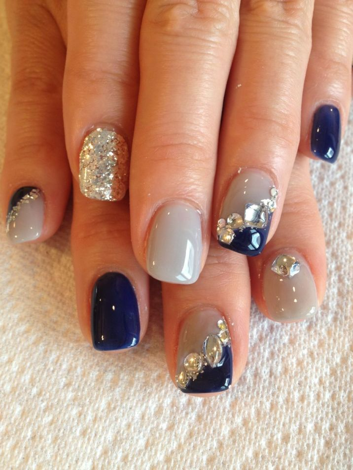 Sweet Blue Nails Ideas that Make Cool and Calm Appearance 48