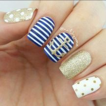 Sweet Blue Nails Ideas that Make Cool and Calm Appearance 53