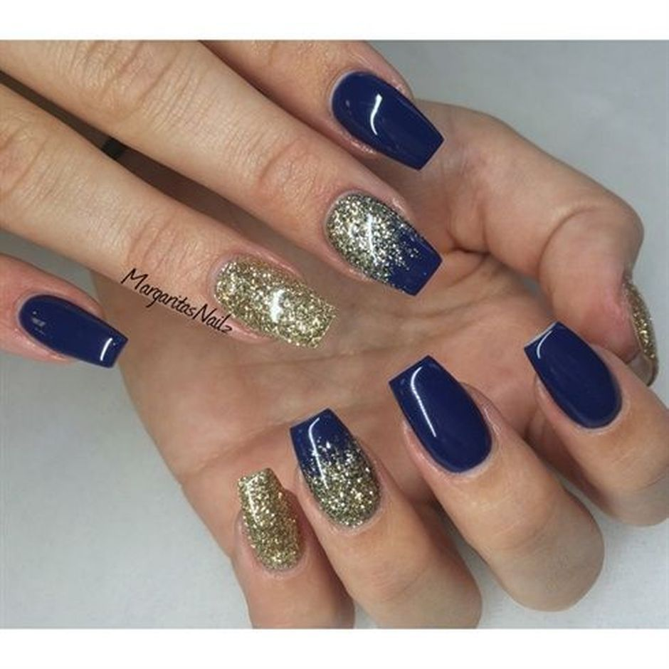 Sweet Blue Nails Ideas that Make Cool and Calm Appearance 58