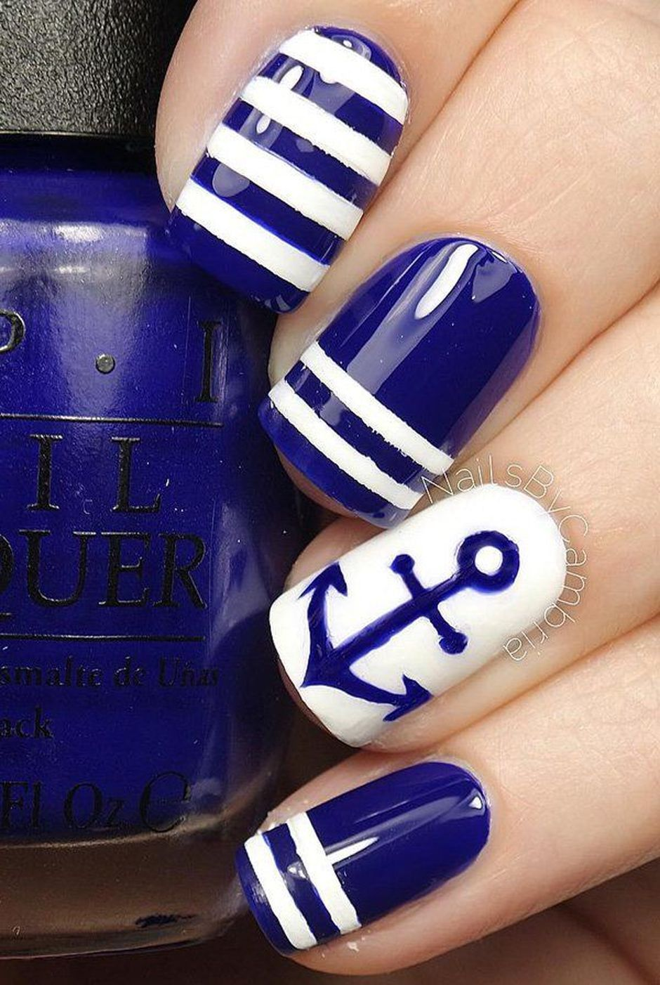 Sweet Blue Nails Ideas that Make Cool and Calm Appearance 59