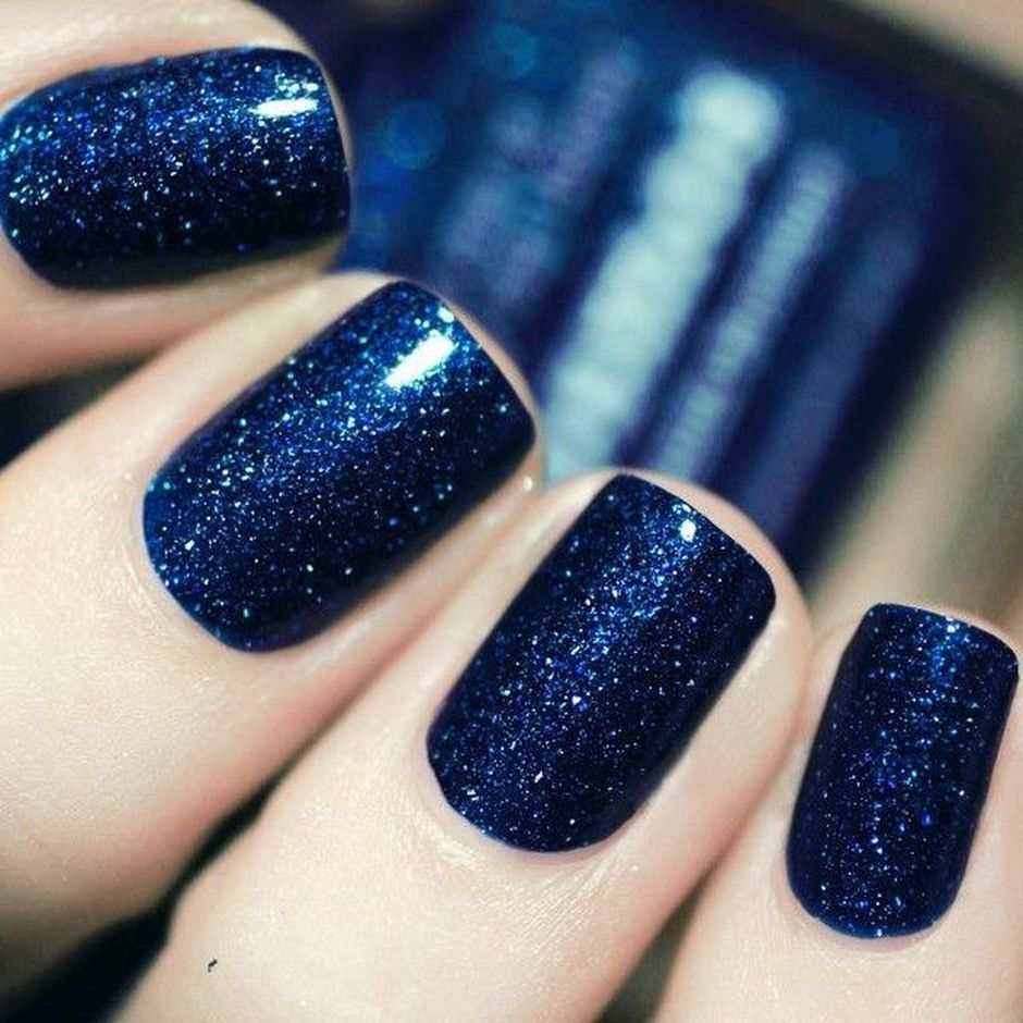Sweet Blue Nails Ideas that Make Cool and Calm Appearance 60