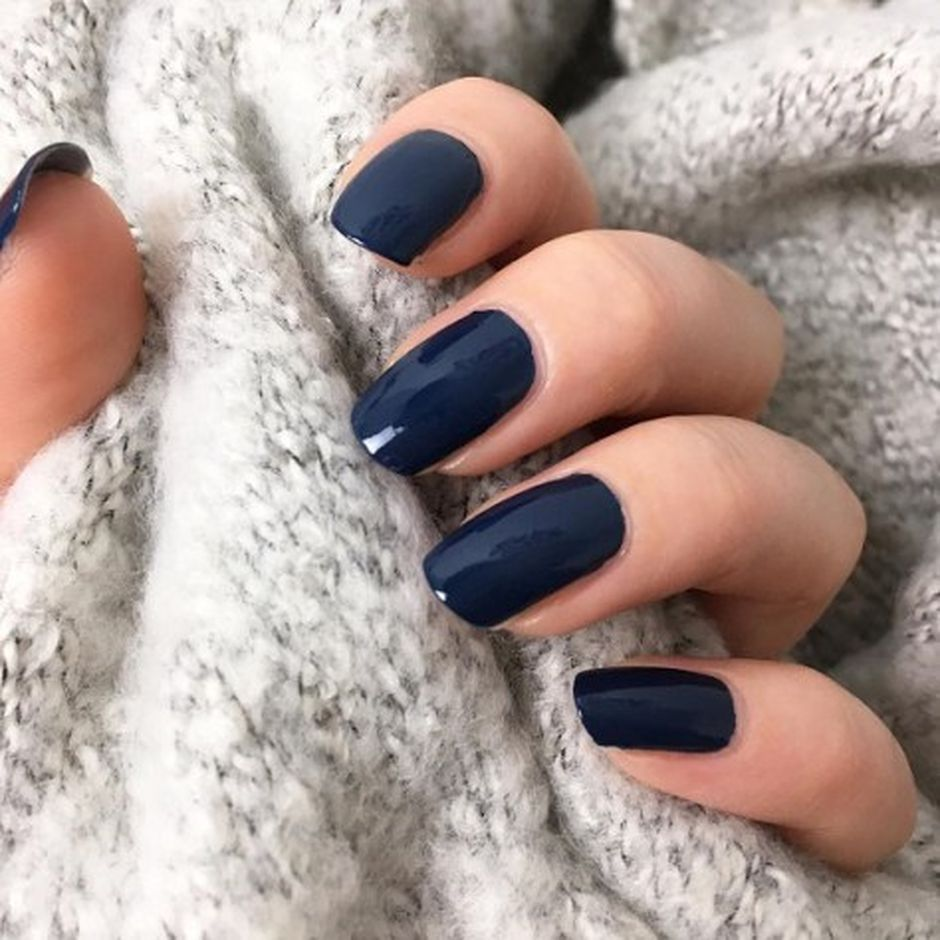 Sweet Blue Nails Ideas that Make Cool and Calm Appearance 75